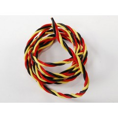 Twisted 22AWG servo wire 1mtr (R/B/Y) 22AWG (1m)