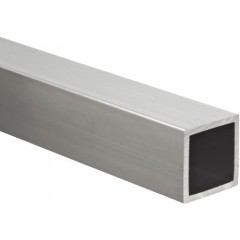 Aluminum Square Tubing, 15x15mm, 1mm Wall, 1000mm Length
