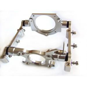 Billet aluminum engine mount for gas engine (silver)
