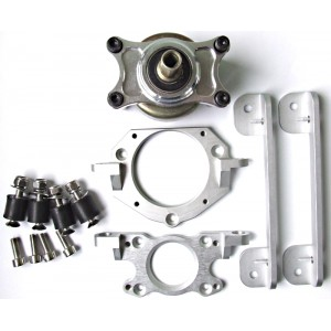 Aluminum engine mount with clutch system kit ver.2
