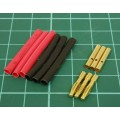 1.9mm Gold Connectors & Shrink Plastic Tubes Set