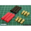 5.9 mm Gold Connectors & Shrink Plastic Tubes Set