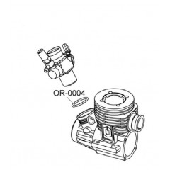 Carburetor Body to Crankcase Inside (BOTTOM) O‐Ring 15.2x1.5mm (1pcs)