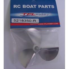 D52 x P1.8 x ?4.75mm RC Boat Aluminium CNC Slotted 3-Blade Propeller (Reverse)