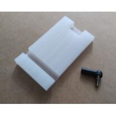 Remote Trim Tabs For FSR-V Boat 68x38x7mm nylon (slotted)