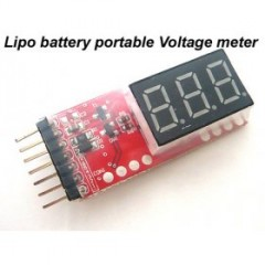 Digital Battery Indicator for 1 - 6s Lipo Lithium Polymer Battery